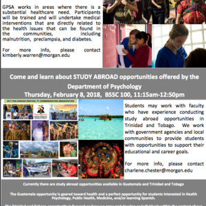 Study Abroad in Guatemala, Trinidad and Tobago Information Session