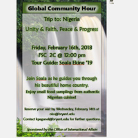 Global Community Hour: Trip to Nigeria