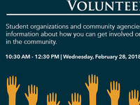 Volunteer Opportunities and Organization Fair