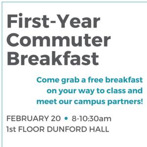 First-Year Commuter Breakfast
