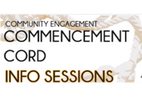 Community Engagement Commencement Cord Info Session