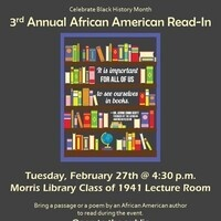 3rd Annual African American Read-In
