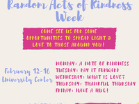 Random Acts of Kindness Week with Dean of Students