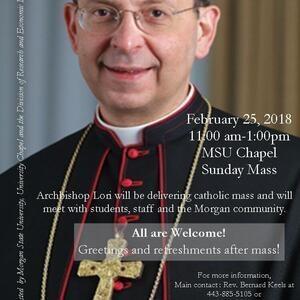 Archbishop William Lori Returns to Morgan's University Memorial Chapel