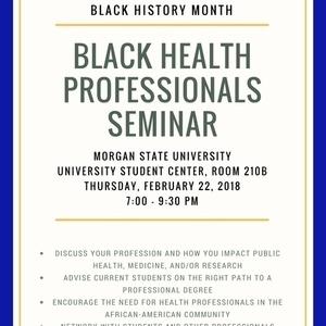 Black Health Professionals Seminar