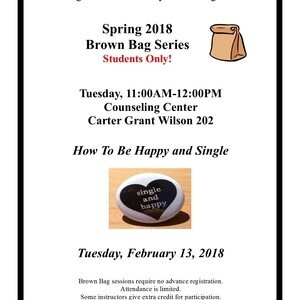 Brown Bag Series - How To Be Happy and Single