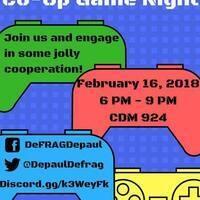 DeFRAG Co-Op Games Night