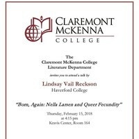 CMC Literature Department: A talk by Lindsay Vail Reckson