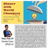 Dinner with World Changers - A Profitable Solution to Carbon Emissions