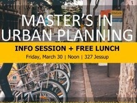 Urban Planning Info Session + Free Lunch