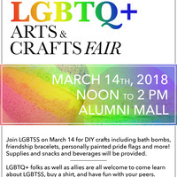 Rainbow Week: LGBTQ+ Arts and Crafts Fair