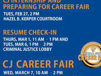 CJ Internship and Preparing for Career Fair