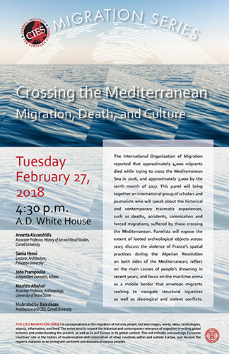 Crossing the Mediterranean: Migration, Death and Culture
