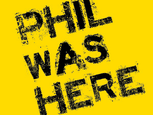 Phil Was Here logo