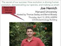 Biology without Borders - Joe Henrich; Harvard University