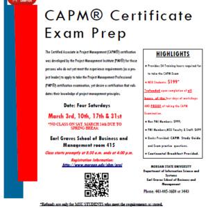 Certified Associate of Project Management (CAPM) Workshop