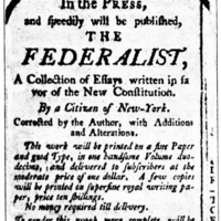 One-Day Seminar: Federalist vs. Anti-Federalist Debate