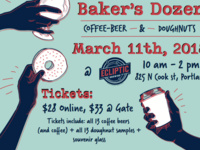 Fourth Annual Baker's Dozen: Coffee, Beer & Donuts