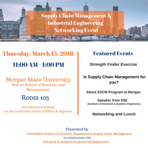 Supply Chain Management and Industrial Engineering Networking Event