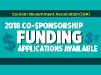 2018 SGA Co-Sponsorship Deadline (03/30)