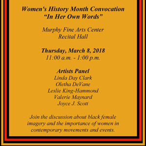 Women's History Month Convocation
