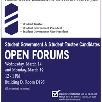 Student Government Candidates Open Forum