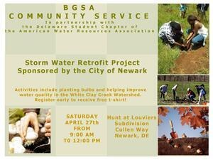 BGSA Community Service – City of Newark Storm Water Program