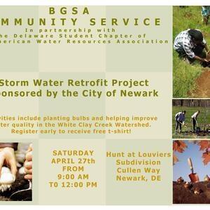 BGSA Community Service – City of Newark Storm Water Program