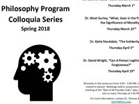 Philosophy Program Colloquia Series