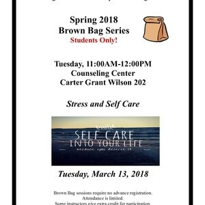 Brown Bag Series - Stress and Self Care