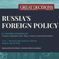 Great Decisions 2018: Russia's Foreign Policy