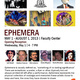 Ephemera exhibition opening reception