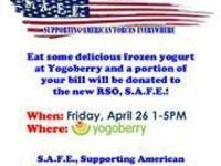Supporting American Forces Everywhere (SAFE) Fundraiser at Yogoberry