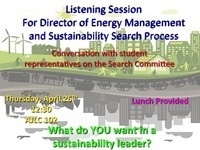 Listening Session for Search for Director of Energy Management and Sustainability