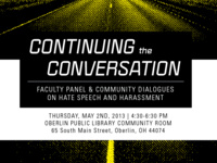 Continuing the Conversation: Faculty Panel & Community Dialogues on Hate Speech and Harassment
