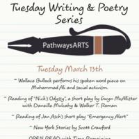 POSTPONED - Writing & Poetry Series