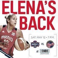 Elena Delle Donne Returns - Washington Mystics vs. Indiana Fever