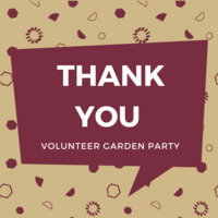 Volunteer Thank You Garden Party