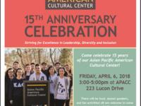15th Anniversary Celebration—Asian Pacific American Cultural Center