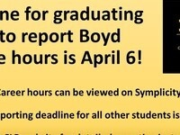 Boyd Service Hours reporting deadline for 3Ls