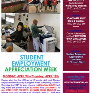 Student Employee Appreciation Week