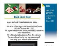 BGSA Game Night