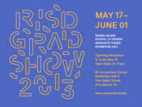 Rhode Island School of Design Graduate Thesis Exhibition 2013 opening reception
