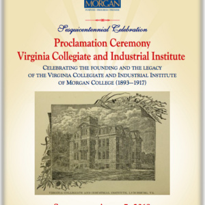 Proclamation Ceremony for The Virginia Collegiate and Industrial Institute