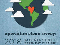 Operation Clean Sweep: Alberta Street Earth Day Cleanup