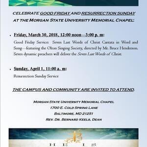 Good Friday Service at the University Memorial Chapel