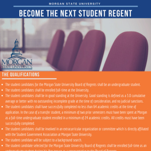 Become the Next Student Regent!!