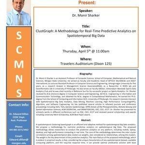 Computer Science Colloquium Talk: Dr. Monir Sharker