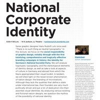 School of Design Talks: National Corporate Identity with Hammer of Zurich