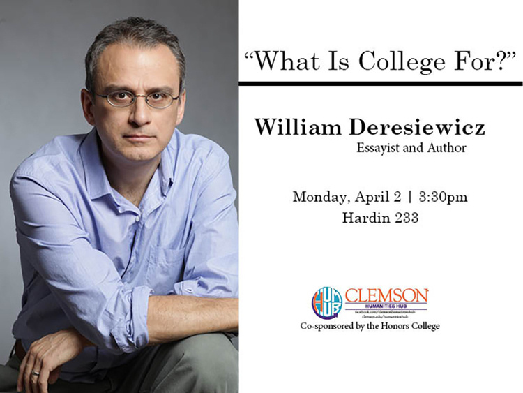 "Bill Deresiewicz, ""What is College For?"""